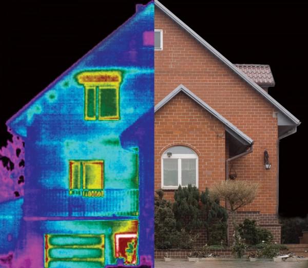 изображение дома в тепловизор